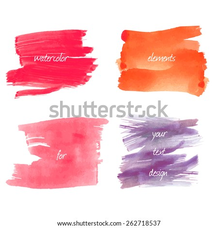 Water color strokes on  a white background - stock vector