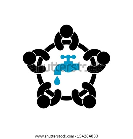 water conservation - stock vector