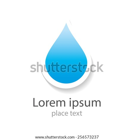 Water drop abstract vector logo design template. Water drop blue. Creative shape Aqua concept icon. Clear bio eco idea. Ecology technology. - stock vector
