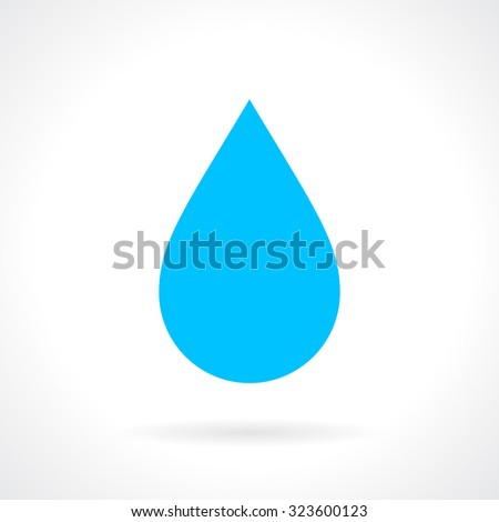 Water drop icon - stock vector