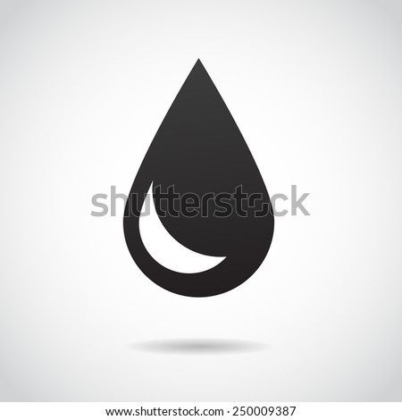 Water drop icon isolated on white background. Vector illustration. - stock vector