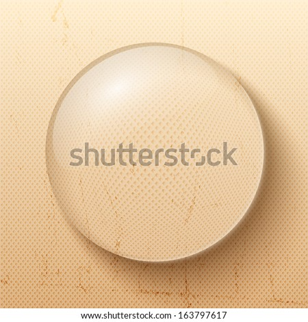 Water drop. Natural background. Vector Illustration, eps10, contains transparencies. - stock vector