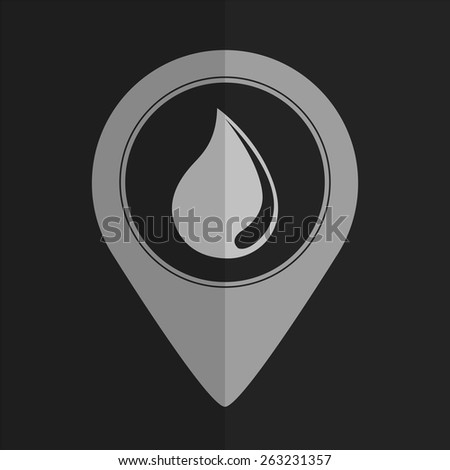 Water drop vector icon - map pointer. Flat design - stock vector