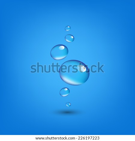 Water Drop Wall With Gradient Mesh, Vector Illustration - stock vector