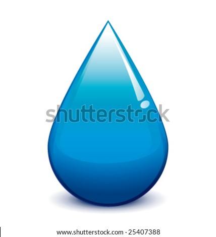 Water droplet vector - stock vector