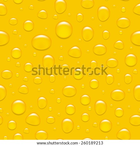 Water drops on glass. Like a beer. Seamless background. Vector EPS10 illustration.  - stock vector