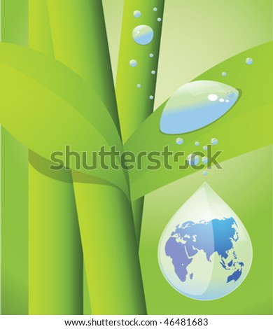 water drow and seedling - stock vector