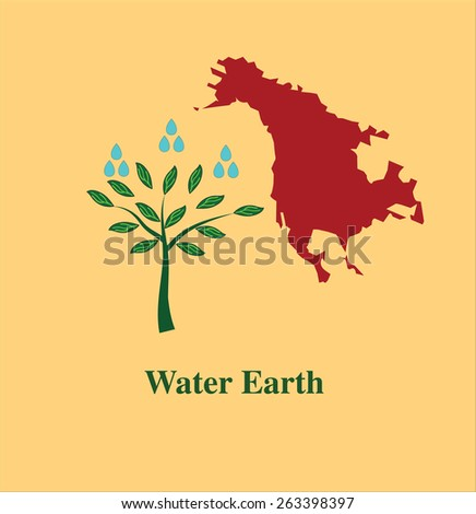 water earth nature - stock vector