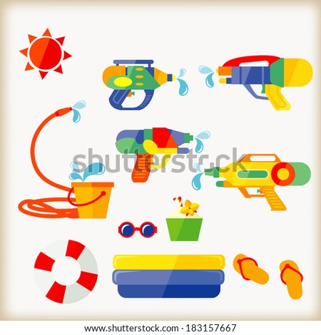 water gun/Songkran Festival - stock vector