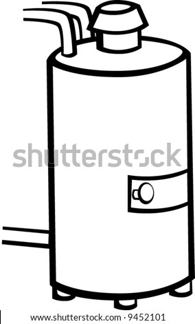 water heater - stock vector