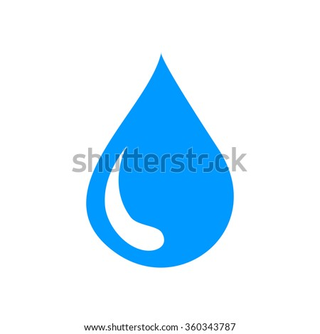 water icon, flat vector illustration. design EPS 10 - stock vector