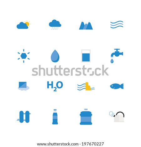 Water icon set. Vector illustration design.  - stock vector