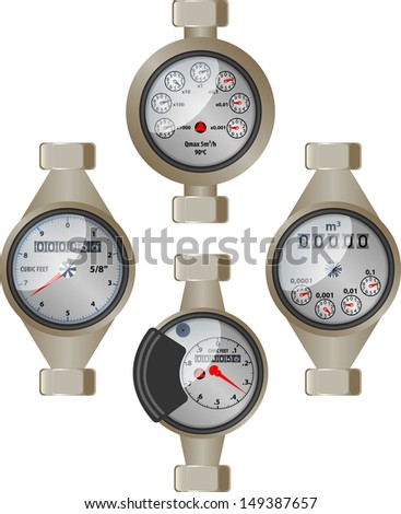 Water meter - stock vector