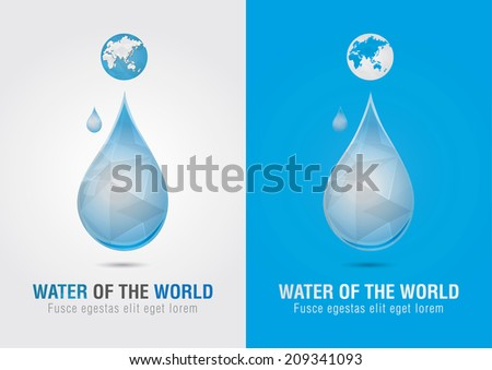 Water of the world icon sign symbol. Creative marketing. Social and Environmental Enterprise. - stock vector