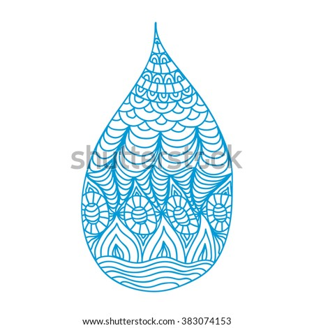 Water pattern drop vector illustration - stock vector