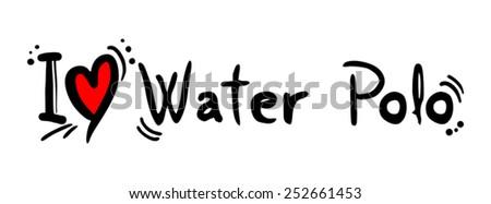Water polo love - stock vector
