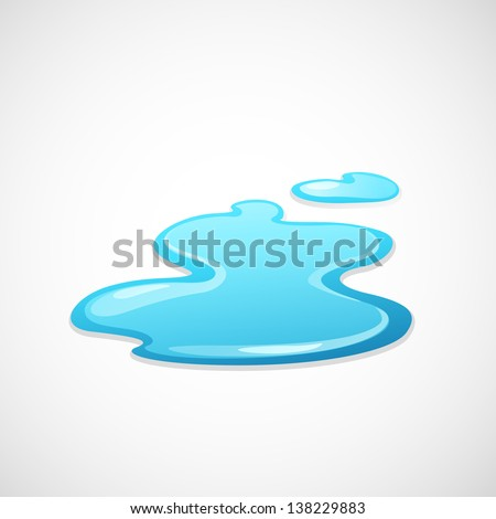 water splash vector - stock vector