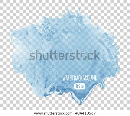 Water surface background. Transparent liquid isolated vector illustration. - stock vector