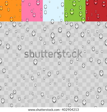 Water Transparent Drops Seamless Pattern  - stock vector