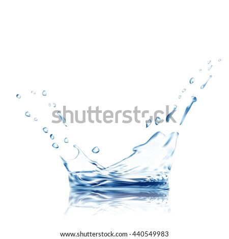 water vector. blue water splash isolated vector with water drops. 3d illustration. Water background. Water splash vector  water vector. water splash. water drop. water splash vector. water drop vector - stock vector