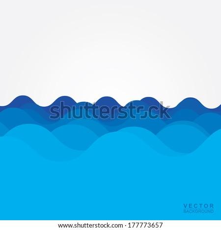Water wave design over blue background, Vector - stock vector