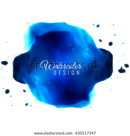 Watercolor background - stock vector
