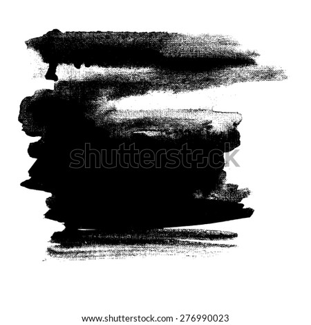 Watercolor Background Greyscale. Abstract art hand paint. Vector illustration. - stock vector
