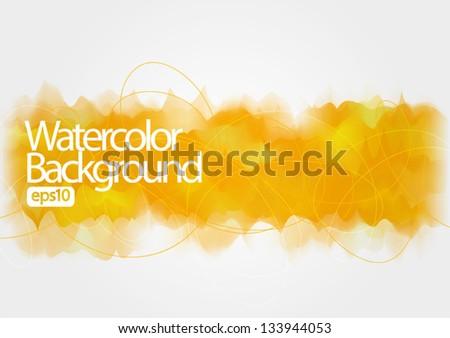 watercolor background, vector illustration, - stock vector