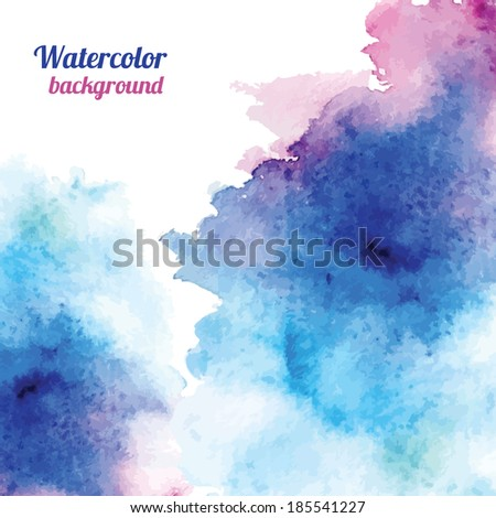 Watercolor background. Vector illustration - stock vector