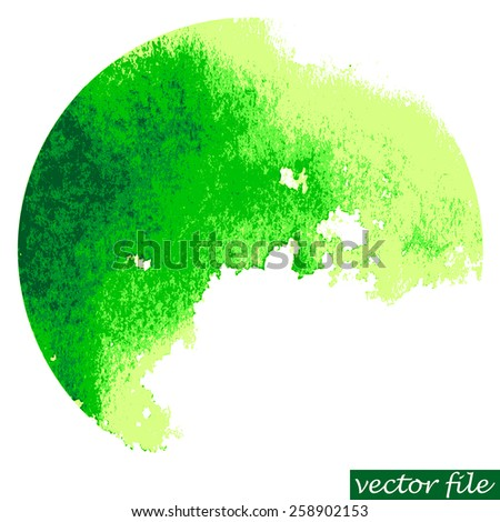 Watercolor circle. Watercolor stain isolated on white background. Watercolor palette. Vector file. - stock vector