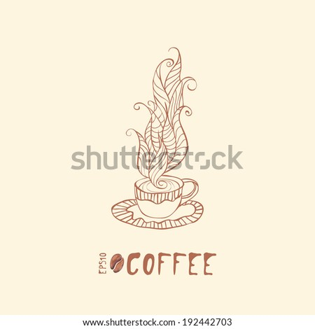 watercolor coffee illustration. eps10 - stock vector