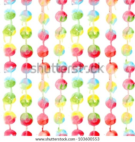 Watercolor colorful seamless pattern with spots - stock vector