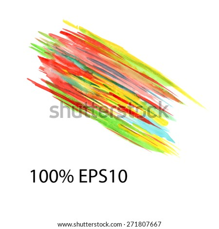 watercolor EPS10 - stock vector
