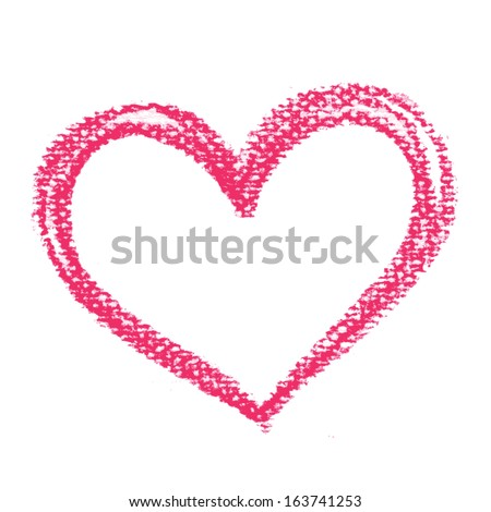 Watercolor heart, vector element for your design, valentine's day card concept - stock vector