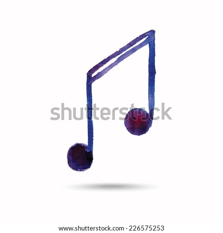 Watercolor note on the white background. Vector. - stock vector