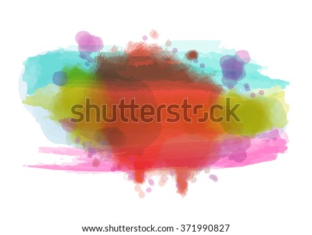 watercolor paint abstract background, vector illustration - stock vector