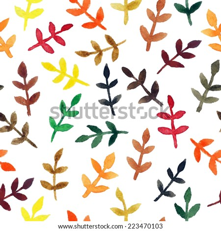 Watercolor seamless floral pattern - stock vector