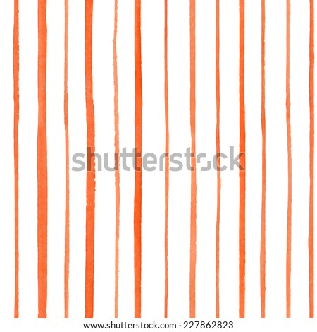 Watercolor seamless pattern with stripes for trendy romantic design / Vector Illustration - stock vector