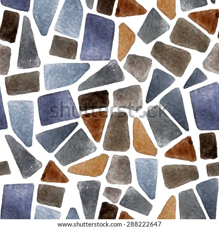 Watercolor seamless stone texture for your designs - stock vector