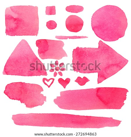 Pink Paint Stains Brush
