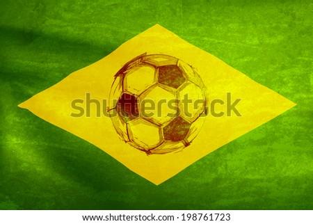 watercolor soccer ball,  easy all editable - stock vector