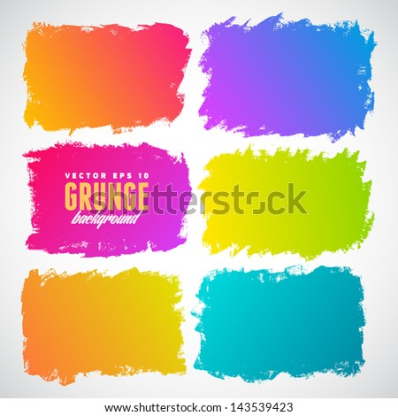 Watercolor splatters. Grunge vector illustration - stock vector