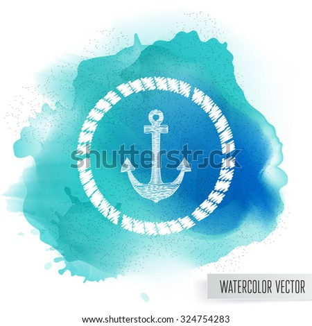 Watercolor stain. Abstract watercolor splash.  - stock vector