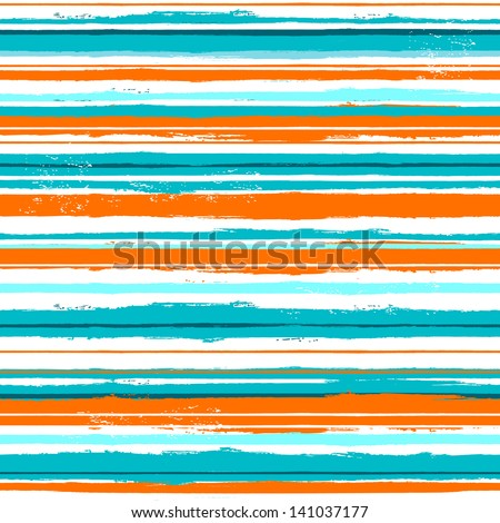 Watercolor striped seamless - stock vector