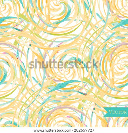 Watercolor vector abstract seamless pattern with roses. Colorful print with modern beautiful design. - stock vector