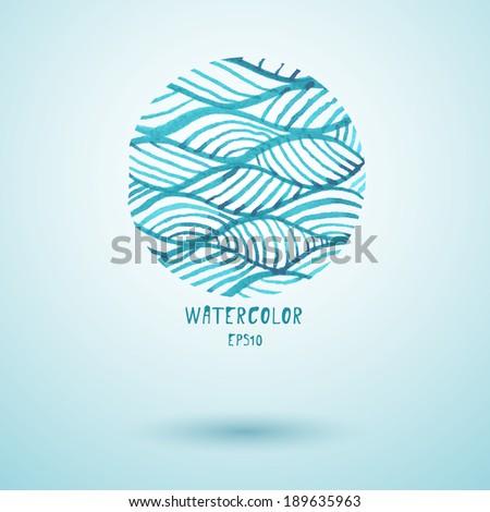 Watercolor. Vector illustration. - stock vector