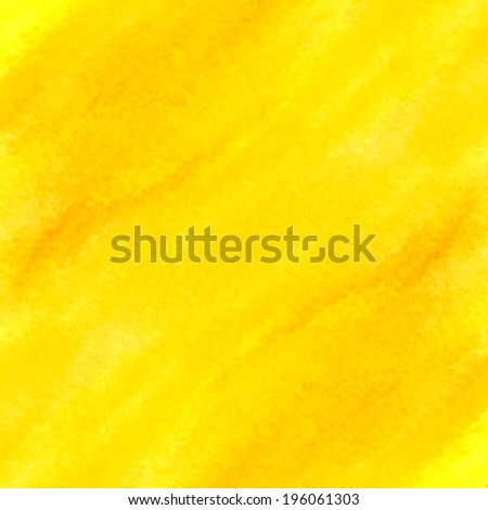 Watercolor yellow background for business presentation - stock vector