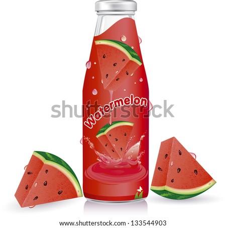 Watermelon juice splash vector easy to use in your designs - stock vector