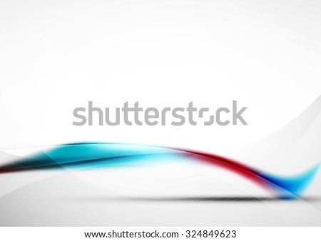 Wave abstract background. Business or hi-tech presentation template or advertising layout - stock vector