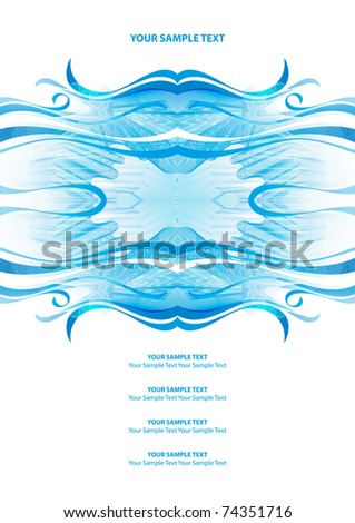 Wave background 10 eps. Perfect as invitation or announcement. - stock vector